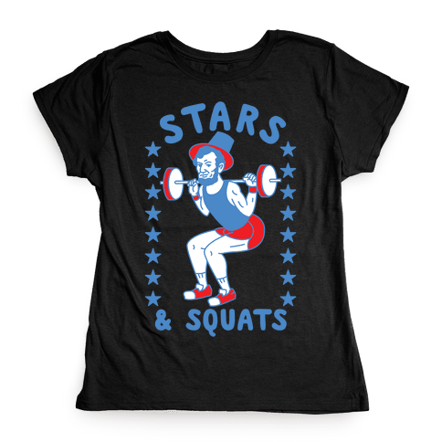 Stars and Squats Womens T-Shirt