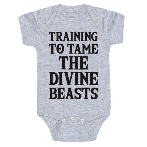 Training To Tame The Divine Beasts Baby Onesy