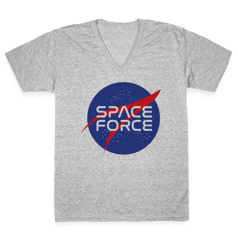 Space Force Parody V-Neck Tee Shirt