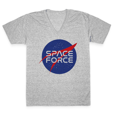 Space Force Parody V-Neck Tee Shirt