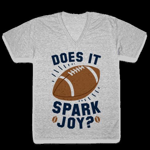 Does Football Spark Joy? V-Neck Tee Shirt