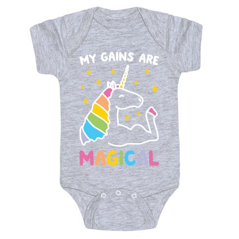 My Gains Are Magical Baby Onesy
