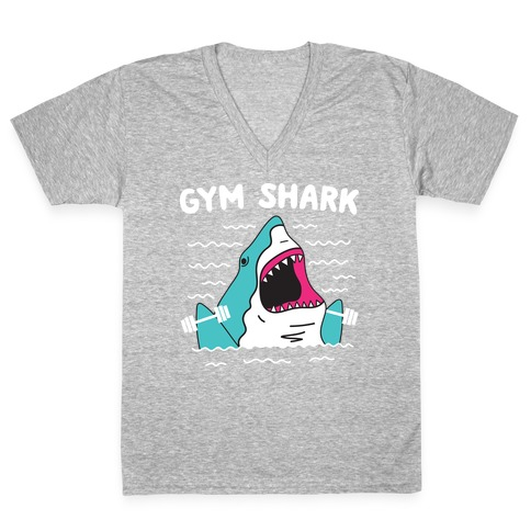 Gym Shark V-Neck Tee Shirt