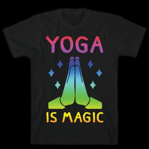 Yoga Is Magic Mens T-Shirt
