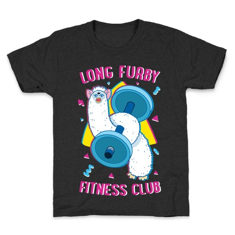 Long Furby Fitness Club Kids T-Shirt