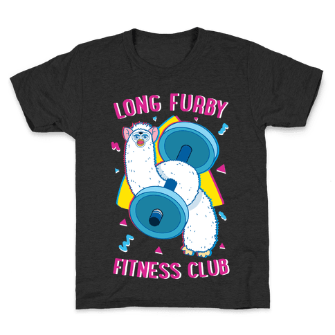 Long Furby Fitness Club Kids T-Shirt