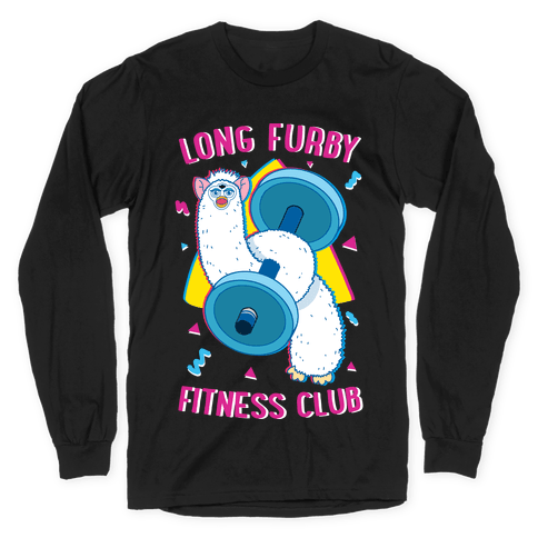 Long Furby Fitness Club Long Sleeve T-Shirt
