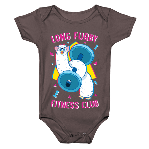 Long Furby Fitness Club Baby One-Piece