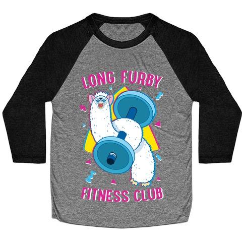 Long Furby Fitness Club Baseball Tee