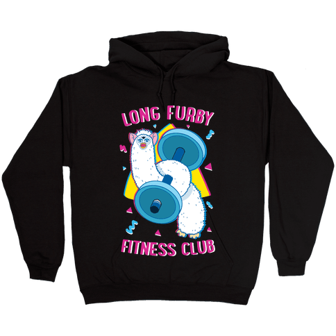Long Furby Fitness Club Hooded Sweatshirt