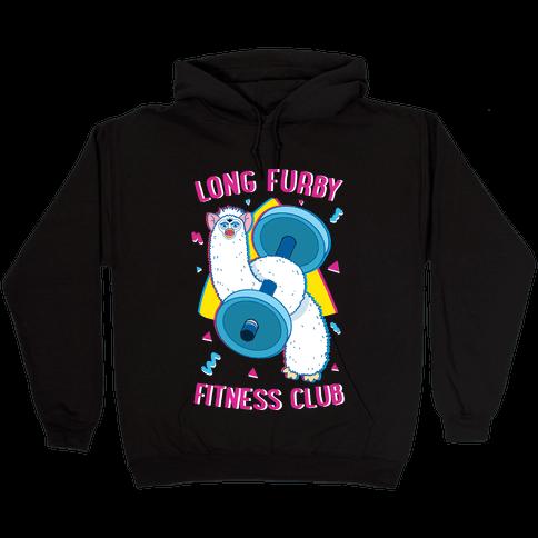 Long Furby Fitness Club Hooded Sweatshirt