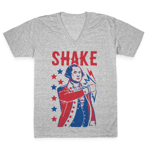 Shake & Bake: George Washington V-Neck Tee Shirt