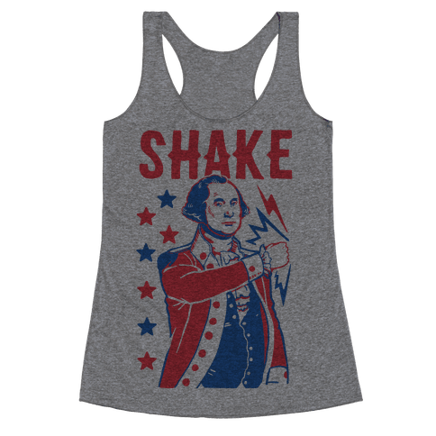 Shake & Bake: George Washington Racerback Tank Top