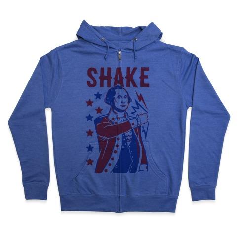 Shake & Bake: George Washington Zip Hoodie
