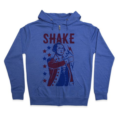 Shake & Bake: George Washington Zip Hoodie