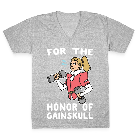 For the Honor of Gainskull V-Neck Tee Shirt