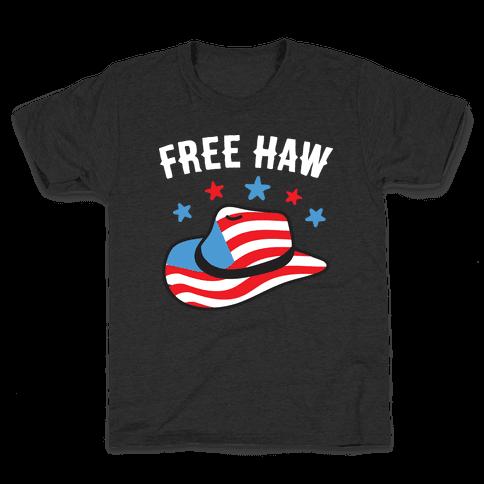 Free Haw Patriotic Cowboy Hat  Kids T-Shirt