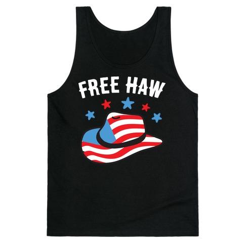 Free Haw Patriotic Cowboy Hat  Tank Top