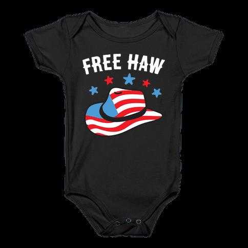 Free Haw Patriotic Cowboy Hat  Baby Onesy