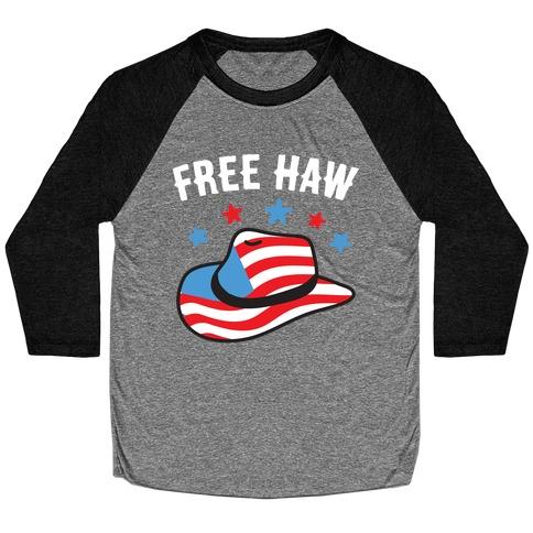 Free Haw Patriotic Cowboy Hat Baseball Tee