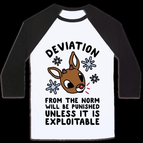 Deviation Rudolf Baseball Tee