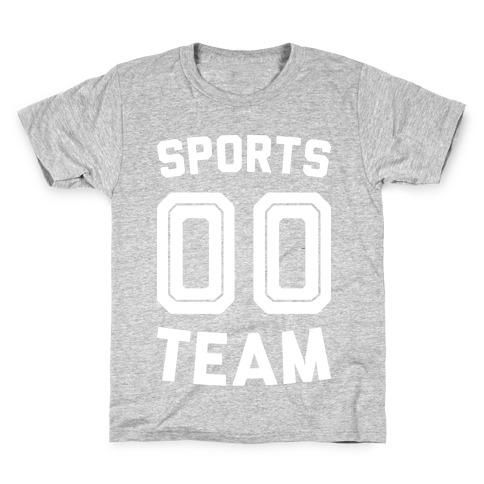 Sports 00 Team (White) Kids T-Shirt