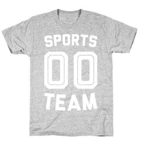 Sports 00 Team (White) Mens/Unisex T-Shirt