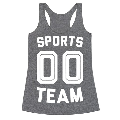 Sports 00 Team (White) Racerback Tank Top