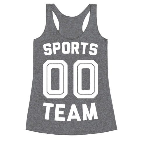 Sports 00 Team (White) Racerback Tank Top