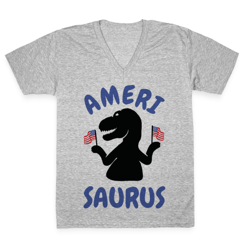 Amerisaurus V-Neck Tee Shirt