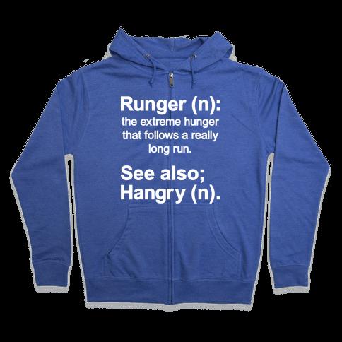 Runger Definition Zip Hoodie