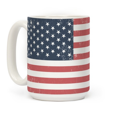 Distressed American Flag Mug Coffee Mugs Merica Made