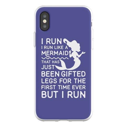 I Run Like a Mermaid Phone Flexi-Case