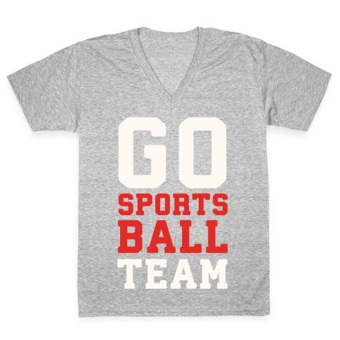 Go Sports Ball V-Neck Tee Shirt