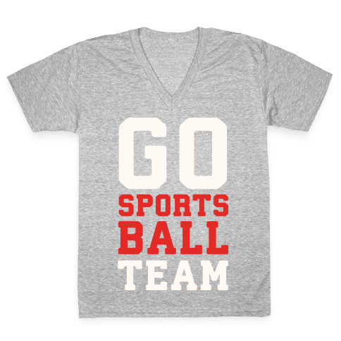 Go Sports Ball V-Neck Tee Shirt