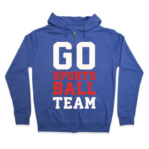 Go Sports Ball Zip Hoodie