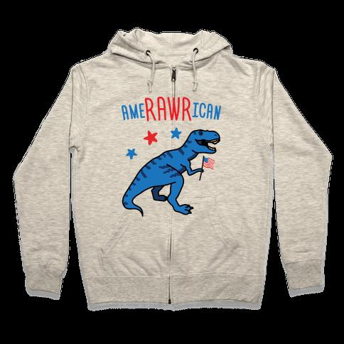 AmeRAWRican Dino Zip Hoodie