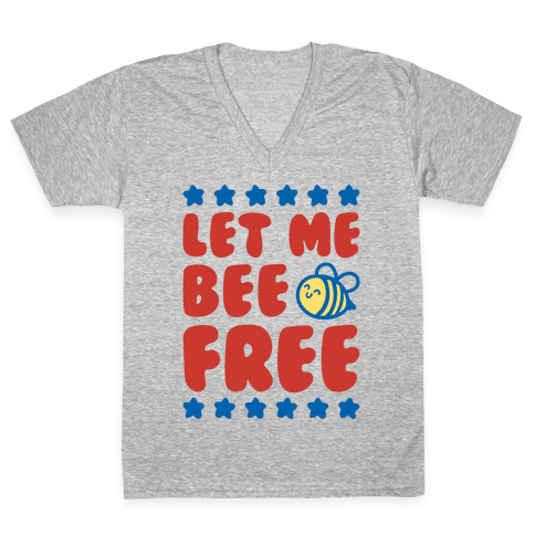 Let Me Be Free V-Neck Tee Shirt
