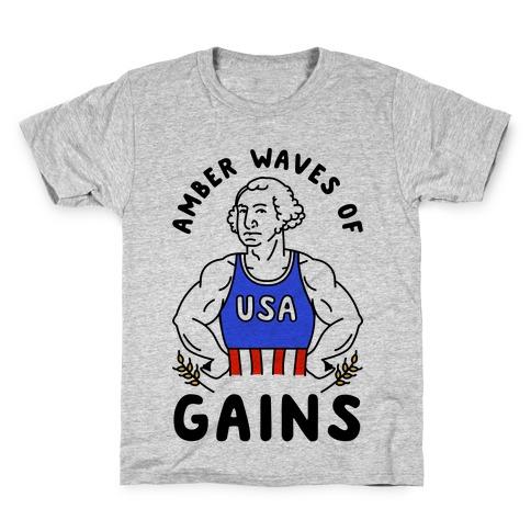 Amber Waves Of Gains Kids T-Shirt