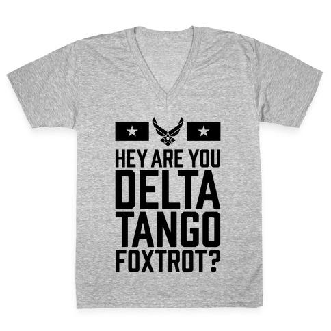 Delta Tango Foxtrot (Air Force) V-Neck Tee Shirt