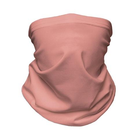 Coral Pink Neck Gaiter