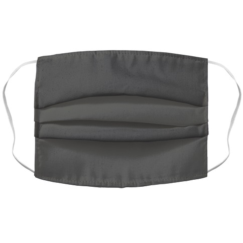 Grey Accordion Face Mask