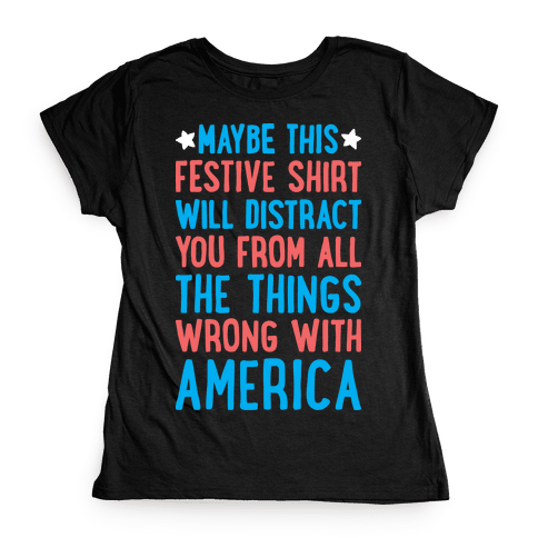 Festive American Distraction Womens T-Shirt