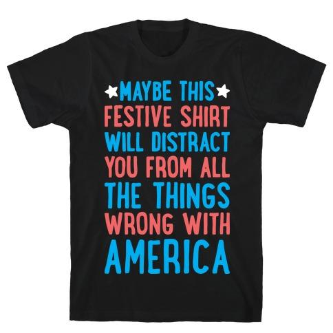 Festive American Distraction Mens/Unisex T-Shirt