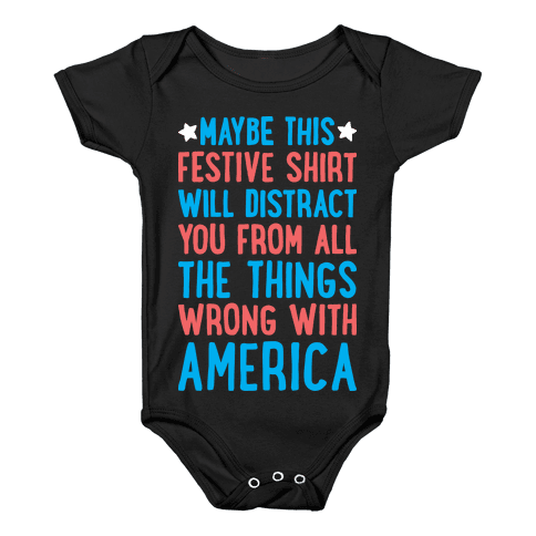 Festive American Distraction Baby Onesy