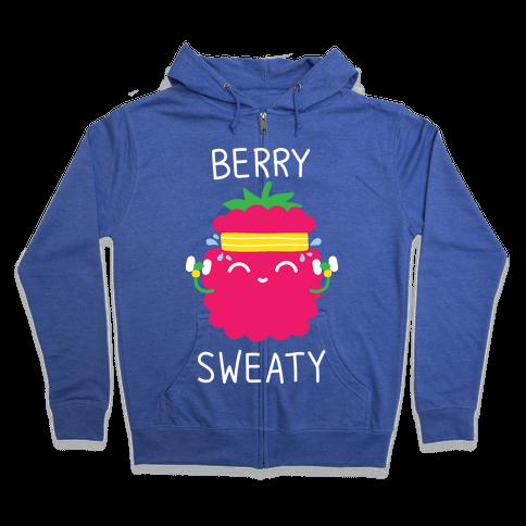 Berry Sweaty Zip Hoodie