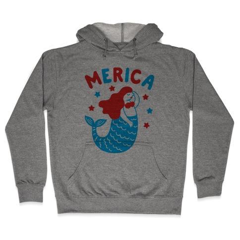 Merica Mermaid Hooded Sweatshirt