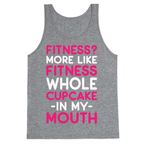 Fitness More like Fitness Whole Cupcake Tank Top