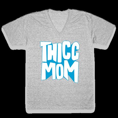 Thicc Mom V-Neck Tee Shirt