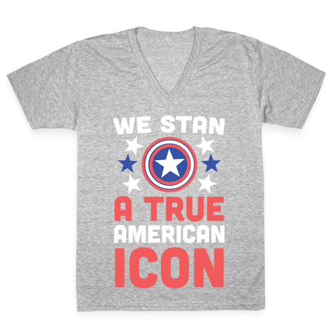 We Stan a True American Icon V-Neck Tee Shirt